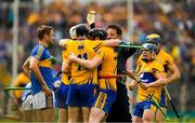 10 June 2018; Clare players, including Patrick O'Connor, Tony Kelly , Jamie Shanahan and Podge Collins celebrate winning the the Munster GAA Hurling Senior Championship Round 4 match between Tipperary and Clare at Semple Stadium in Thurles, Tipperary. Photo by Ray McManus/Sportsfile