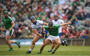 10 June 2018; Barry Murphy of Limerick in action against Conor Gleeson of Waterford during the Munster GAA Hurling Senior Championship Round 4 match between Limerick and Waterford at the Gaelic Grounds in Limerick. Photo by Eóin Noonan/Sportsfile
