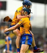 10 June 2018; Clare captain David McInerney and Podge Collins, left, celebrate winning the Munster GAA Hurling Senior Championship Round 4 match between Tipperary and Clare at Semple Stadium in Thurles, Tipperary. Photo by Ray McManus/Sportsfile