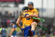 10 June 2018; Clare captain David McInerney and Podge Collins, right, celebrate winning the Munster GAA Hurling Senior Championship Round 4 match between Tipperary and Clare at Semple Stadium in Thurles, Tipperary. Photo by Ray McManus/Sportsfile
