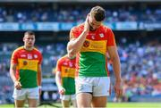 10 June 2018; Daniel St Ledger of Carlow following the Leinster GAA Football Senior Championship Semi-Final match between Carlow and Laois at Croke Park in Dublin. Photo by Stephen McCarthy/Sportsfile