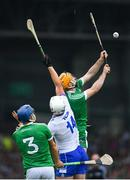 10 June 2018; Tom Devine of Waterford in action against Richie English of Limerick during the Munster GAA Hurling Senior Championship Round 4 match between Limerick and Waterford at the Gaelic Grounds in Limerick. Photo by Ramsey Cardy/Sportsfile