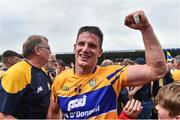 10 June 2018; John Conlon of Clare celebrates following the Munster GAA Hurling Senior Championship Round 4 match between Tipperary and Clare at Semple Stadium in Thurles, Tipperary. Photo by David Fitzgerald/Sportsfile