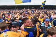 10 June 2018; John Conlon of Clare is congratulated by supporters following the Munster GAA Hurling Senior Championship Round 4 match between Tipperary and Clare at Semple Stadium in Thurles, Tipperary. Photo by David Fitzgerald/Sportsfile