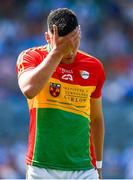 10 June 2018; A dejected Simon Doyle of Carlow after the Leinster GAA Football Senior Championship Semi-Final match between Carlow and Laois at Croke Park in Dublin. Photo by Daire Brennan/Sportsfile
