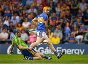 10 June 2018; Tipperary's Jake Morris and Clare goalkeeper Donal Tuohy watch as Morris' shot hits a post during the Munster GAA Hurling Senior Championship Round 4 match between Tipperary and Clare at Semple Stadium in Thurles, Tipperary. Photo by Ray McManus/Sportsfile