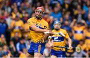 10 June 2018; Peter Duggan of Clare shoots to score the match winning point during the Munster GAA Hurling Senior Championship Round 4 match between Tipperary and Clare at Semple Stadium in Thurles, Tipperary. Photo by David Fitzgerald/Sportsfile