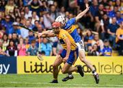 10 June 2018; Peter Duggan of Clare evades the tackle of Seán O'Brien of Tipperary on his way to scoring the match winning point during the Munster GAA Hurling Senior Championship Round 4 match between Tipperary and Clare at Semple Stadium in Thurles, Tipperary. Photo by David Fitzgerald/Sportsfile