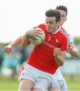 10 June 2018; Tommy Durnin of Louth in action against Liam Irwin of London during the GAA Football All-Ireland Senior Championship Round 1 match between London and Louth at McGovern Park in Ruislip, London. Photo by Matt Impey/Sportsfile