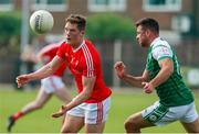 10 June 2018; Declan Byrne of Louth in action against Thomas Waters of London during the GAA Football All-Ireland Senior Championship Round 1 match between London and Louth at McGovern Park in Ruislip, London. Photo by Matt Impey/Sportsfile