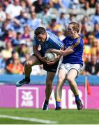 10 June 2018; Paddy Andrews of Dublin in action against Patrick Fox of Longford during the Leinster GAA Football Senior Championship Semi-Final match between Dublin and Longford at Croke Park in Dublin. Photo by Daire Brennan/Sportsfile