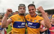 10 June 2018; Tony Kelly, left, and John Conlon of Clare celebrate following the Munster GAA Hurling Senior Championship Round 4 match between Tipperary and Clare at Semple Stadium in Thurles, Tipperary. Photo by David Fitzgerald/Sportsfile