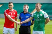 10 June 2018; Andy McDonnell of Louth and Liam Gavaghan of London before the GAA Football All-Ireland Senior Championship Round 1 match between London and Louth at McGovern Park in Ruislip, London. Photo by Matt Impey/Sportsfile