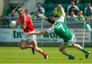 10 June 2018; Gerard McSorley of Louth in action against Patrick Begley of London during the GAA Football All-Ireland Senior Championship Round 1 match between London and Louth at McGovern Park in Ruislip, London. Photo by Matt Impey/Sportsfile
