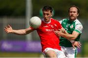 10 June 2018;Derek Maguire of Louth in action against Adrian Moyles of London during the GAA Football All-Ireland Senior Championship Round 1 match between London and Louth at McGovern Park in Ruislip, London. Photo by Matt Impey/Sportsfile
