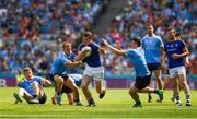 10 June 2018; David McGivney of Longford in action against Jonny Cooper, left, and Niall Scully of Dublin during the Leinster GAA Football Senior Championship Semi-Final match between Dublin and Longford at Croke Park in Dublin. Photo by Daire Brennan/Sportsfile