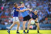 10 June 2018; Paddy Andrews of Dublin in action against Diarmuid Masterson, left, and Patrick Fox of Longford during the Leinster GAA Football Senior Championship Semi-Final match between Dublin and Longford at Croke Park in Dublin. Photo by Stephen McCarthy/Sportsfile