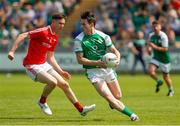 10 June 2018; Patrick Begley of London in action against Ciaran Downey of Louth during the GAA Football All-Ireland Senior Championship Round 1 match between London and Louth at McGovern Park in Ruislip, London. Photo by Matt Impey/Sportsfile