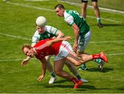 10 June 2018; Conor Grimes of Louth in action against Ciaran Dunne of London during the GAA Football All-Ireland Senior Championship Round 1 match between London and Louth at McGovern Park in Ruislip, London. Photo by Matt Impey/Sportsfile