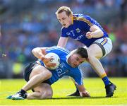 10 June 2018; Paddy Andrews of Dublin in action against Patrick Fox of Longford during the Leinster GAA Football Senior Championship Semi-Final match between Dublin and Longford at Croke Park in Dublin. Photo by Stephen McCarthy/Sportsfile
