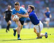 10 June 2018; Con O'Callaghan of Dublin in action against Daniel Mimnagh of Longford during the Leinster GAA Football Senior Championship Semi-Final match between Dublin and Longford at Croke Park in Dublin. Photo by Stephen McCarthy/Sportsfile