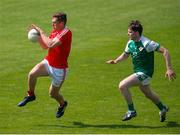 10 June 2018; Declan Byrne of Louth in action against Patrick Begley of London during the GAA Football All-Ireland Senior Championship Round 1 match between London and Louth at McGovern Park in Ruislip, London. Photo by Matt Impey/Sportsfile