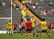 10 June 2018; Hugh McFadden of Donegal  in action against Peter Turley of Down during the Ulster GAA Football Senior Championship Semi-Final match between Donegal and Down at St Tiernach's Park in Clones, Monaghan. Photo by Oliver McVeigh/Sportsfile