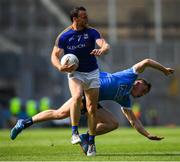 10 June 2018; Donal McElligott of Longford in action against Con O'Callaghan of Dublin during the Leinster GAA Football Senior Championship Semi-Final match between Dublin and Longford at Croke Park in Dublin. Photo by Stephen McCarthy/Sportsfile