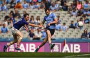 10 June 2018; Dean Rock of Dublin in action against Daniel Mimnagh of Longford during the Leinster GAA Football Senior Championship Semi-Final match between Dublin and Longford at Croke Park in Dublin. Photo by Daire Brennan/Sportsfile