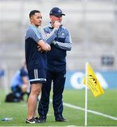 10 June 2018; Dublin manager Jim Gavin, right, and selector Jason Sherlock during the Leinster GAA Football Senior Championship Semi-Final match between Dublin and Longford at Croke Park in Dublin. Photo by Stephen McCarthy/Sportsfile