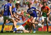 10 June 2018; Darragh Foley of Carlow in action against Stephen Attride of Laois during the Leinster GAA Football Senior Championship Semi-Final match between Carlow and Laois at Croke Park in Dublin. Photo by Daire Brennan/Sportsfile