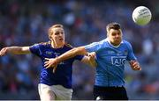 10 June 2018; Kevin McManamon of Dublin in action against Patrick Fox of Longford during the Leinster GAA Football Senior Championship Semi-Final match between Dublin and Longford at Croke Park in Dublin. Photo by Stephen McCarthy/Sportsfile