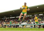 10 June 2018; Michael Murphy of Donegal leads his team out for the team photograph before the Ulster GAA Football Senior Championship Semi-Final match between Donegal and Down at St Tiernach's Park in Clones, Monaghan. Photo by Oliver McVeigh/Sportsfile