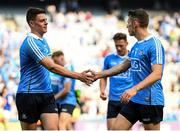 10 June 2018; Brian Howard, left, and Darren Daly of Dublin following the Leinster GAA Football Senior Championship Semi-Final match between Dublin and Longford at Croke Park in Dublin. Photo by Stephen McCarthy/Sportsfile