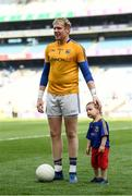 10 June 2018; Longford goalkeeper Paddy Collum with his nephew Paudie, age 2, following the Leinster GAA Football Senior Championship Semi-Final match between Dublin and Longford at Croke Park in Dublin. Photo by Stephen McCarthy/Sportsfile
