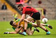 10 June 2018; Mark McHugh of Donegal in action against Connaire Harrison of Down during the Ulster GAA Football Senior Championship Semi-Final match between Donegal and Down at St Tiernach's Park in Clones, Monaghan. Photo by Oliver McVeigh/Sportsfile