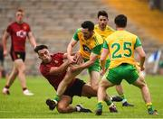10 June 2018; Mark McHugh of Donegal in action against Ryan Johnston of Down during the Ulster GAA Football Senior Championship Semi-Final match between Donegal and Down at St Tiernach's Park in Clones, Monaghan. Photo by Oliver McVeigh/Sportsfile