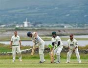 10 June 2018; Ruadhán Jones of Cork Harlequins plays a shot during the All Rounder Munster Premier Division match between County Kerry and Cork Harlequins at the Oyster Oval, Tralee, Co Kerry. Photo by Seb Daly/Sportsfile