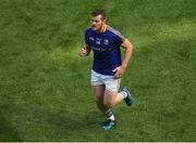 10 June 2018; James McGivney of Longford leaves the field, after being shown the red card by referee Maurice Deegan, after he tackled Dublin goalkeeper Stephen Cluxton after the ball during the Leinster GAA Football Senior Championship Semi-Final match between Dublin and Longford at Croke Park in Dublin. Photo by Piaras Ó Mídheach/Sportsfile