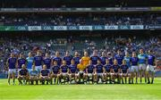 10 June 2018; The Longford squad prior to the Leinster GAA Football Senior Championship Semi-Final match between Dublin and Longford at Croke Park in Dublin. Photo by Stephen McCarthy/Sportsfile