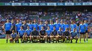 10 June 2018; A selection of Dublin players stand for their team photograph prior to the Leinster GAA Football Senior Championship Semi-Final match between Dublin and Longford at Croke Park in Dublin. Photo by Stephen McCarthy/Sportsfile