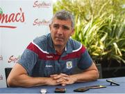 11 June 2018; Galway manager Kevin Walsh during a Galway Football Press Conference at Loughrea Hotel & Spa, in Loughrea, Galway. Photo by Harry Murphy/Sportsfile