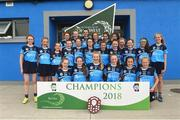 10 June 2018; O'Moore's Co Laois, team after the Division 4 Camogie shield final, at the John West Féile na nGael national competition which took place this weekend across Connacht, Westmeath and Longford. This is the third year that the Féile na nGael and Féile Peile na nÓg have been sponsored by John West, one of the world's leading suppliers of fish. The competition gives up-and-coming GAA superstars the chance to participate and play in their respective Féile tournament, at a level which suits their age, skills and strengths. Photo by Matt Browne/Sportsfile