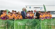 10 June 2018; Oisin Ivers captain of Kinvara Co Galway, with the trophy after the Division 3 shield Hurling final, at the John West Féile na nGael national competition which took place this weekend across Connacht, Westmeath and Longford. This is the third year that the Féile na nGael and Féile Peile na nÓg have been sponsored by John West, one of the world's leading suppliers of fish. The competition gives up-and-coming GAA superstars the chance to participate and play in their respective Féile tournament, at a level which suits their age, skills and strengths. Photo by Matt Browne/Sportsfile