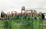 10 June 2018; Ballygalget, Co Down players celebrate after the Division 2 final, at the John West Féile na nGael national competition which took place this weekend across Connacht, Westmeath and Longford. This is the third year that the Féile na nGael and Féile Peile na nÓg have been sponsored by John West, one of the world's leading suppliers of fish. The competition gives up-and-coming GAA superstars the chance to participate and play in their respective Féile tournament, at a level which suits their age, skills and strengths. Photo by Matt Browne/Sportsfile
