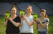 10 June 2018; Volunteers from the GAA Museum and the Croke Park Community team taking up sections of the Croke Park pitch following the Leinster GAA Football Championship Semi-Finals on Sunday 10th June. These unique potted pieces of Croke Park are now on sale for €10 in the GAA Museum gift shop for a limited period. All profits from the sale of these pots will go to the Official GAA Charities for 2018 – Mayo Roscommon Hospice Foundation, Cavan Monaghan Palliative Care, Kerry Hospice Foundation, Jack and Jill Children's Foundation and Concern. Pictured are from left, Niamh Toolan and Lauren Burke, both from Glasnevin, with Gemma Sexton, from Castleknock. Croke Park, Dublin. Photo by Piaras Ó Mídheach/Sportsfile