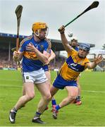 10 June 2018; Donagh Maher of Tipperary in action against Podge Collins of Clare during the Munster GAA Hurling Senior Championship Round 4 match between Tipperary and Clare at Semple Stadium in Thurles, Tipperary. Photo by David Fitzgerald/Sportsfile