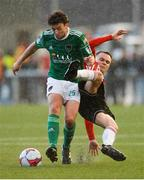 11 May 2018; Barry McNamee of Cork City action against Rory Hale of Derry City during the SSE Airtricity League Premier Division match between Derry City and Cork City at Brandywell Stadium, in Derry. Photo by Oliver McVeigh/Sportsfile