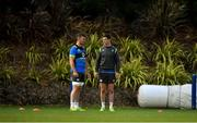 12 June 2018; Peter O'Mahony, left, in conversation with Jonathan Sexton during Ireland rugby squad training at St Kevin's College in Melbourne, Australia. Photo by Brendan Moran/Sportsfile