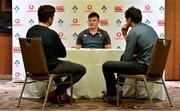 12 June 2018; Jacob Stockdale speaks to the media during an Ireland rugby press conference in Melbourne, Australia. Photo by Brendan Moran/Sportsfile